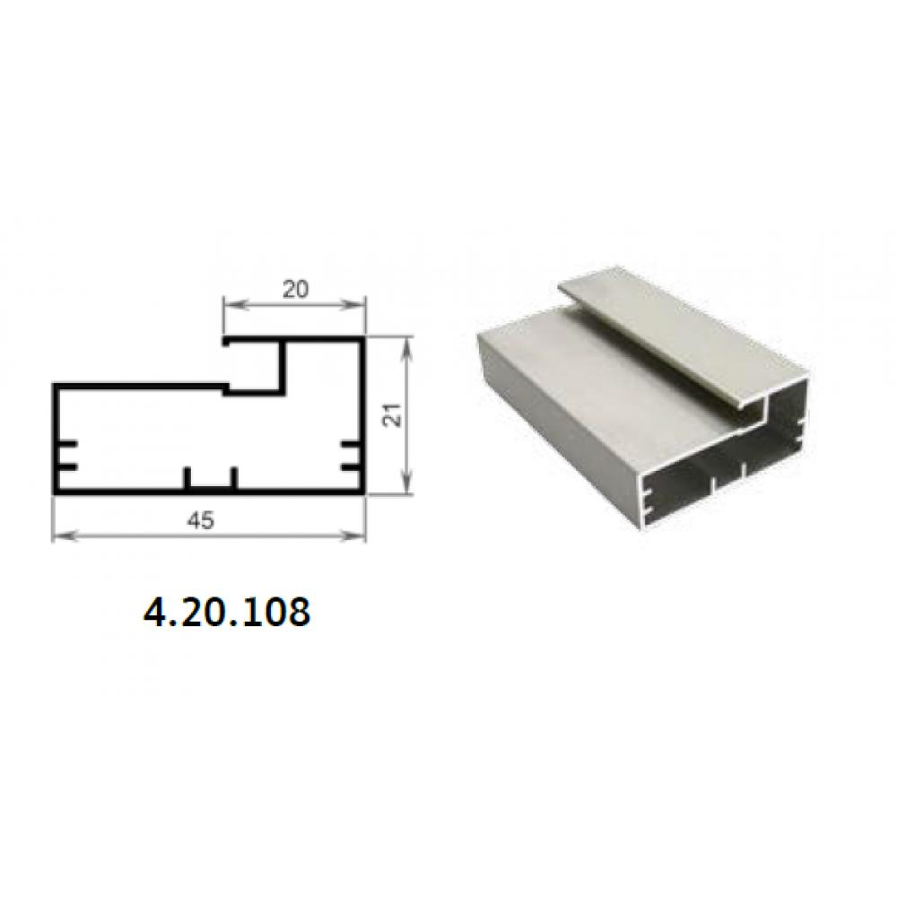 Профиль фасадный 4.20.108 алюминий, шт