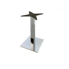 Опора ТЕМРО одинарная, 70 х 70 мм, база 365 х 365 мм, код 11.471, хром