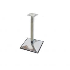 Опора мебельная 60х60 мм, h=680 мм, база - 500х500 мм, хром