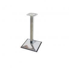 Опора мебельная 60х60 мм, h=680 мм, база - 400х400 мм, хром