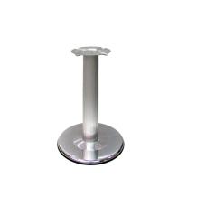 Опора мебельная рефленая, d=110 мм, h=710 мм, база - 460 мм, алюминий