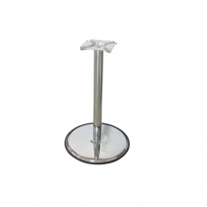 Опора мебельная d=60 мм, h=680 мм, с базой d=480 мм, хром