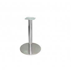 Опора мебельная d=76 мм, Н=730 мм, база 390х390 мм, хром/нержавейка