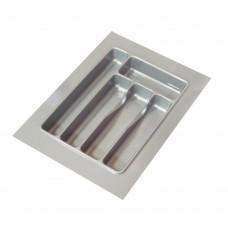 Лоток кухонний 270 х 490 мм, пластик сірий глянець