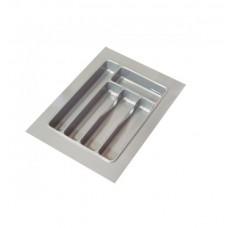 Лоток кухонний 370 х 490 мм, пластик сірий рифлений