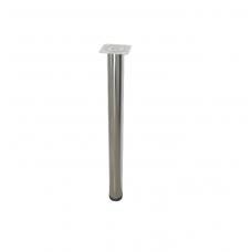 Опора мебельная регулируемая D=60 мм, Н=710-740 мм, хром NEW
