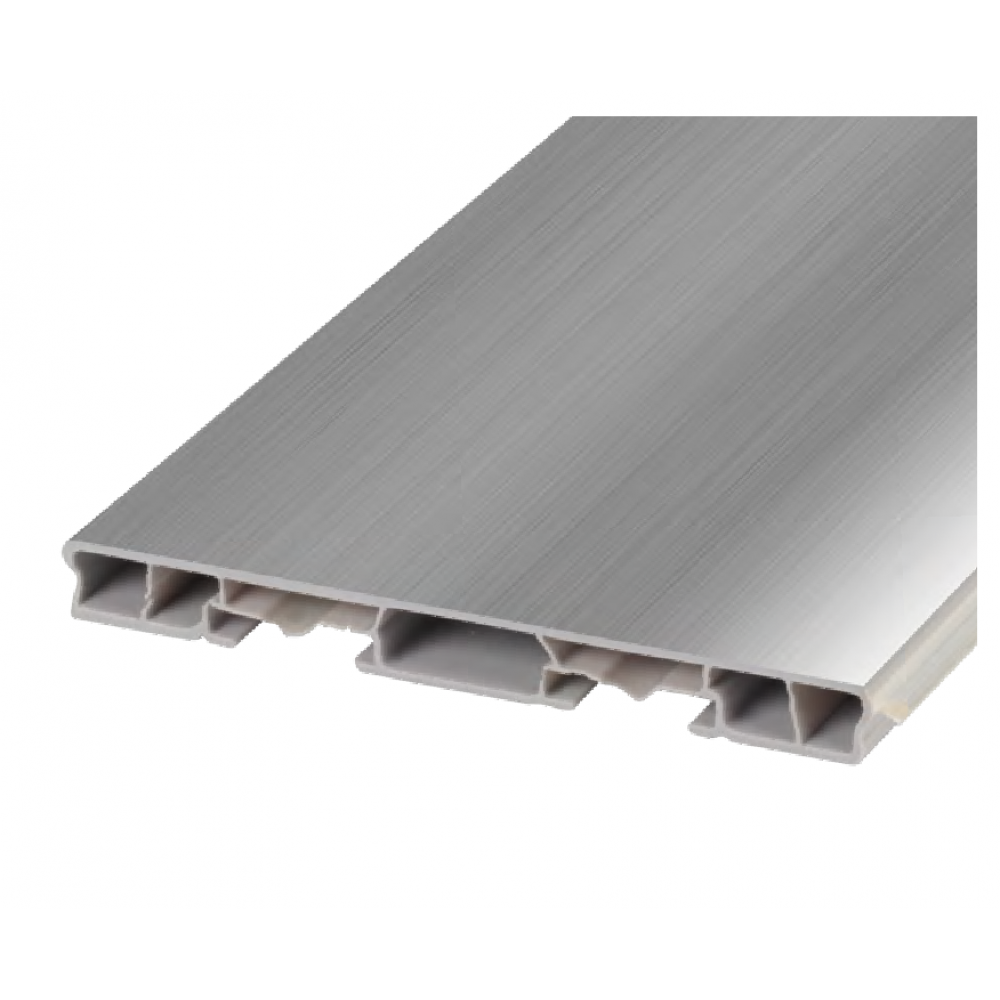 Цоколь пластиковый гладкий 100 мм, L = 3660 мм, никель