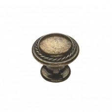Меблева ручка 9082 - кнопка, бронза