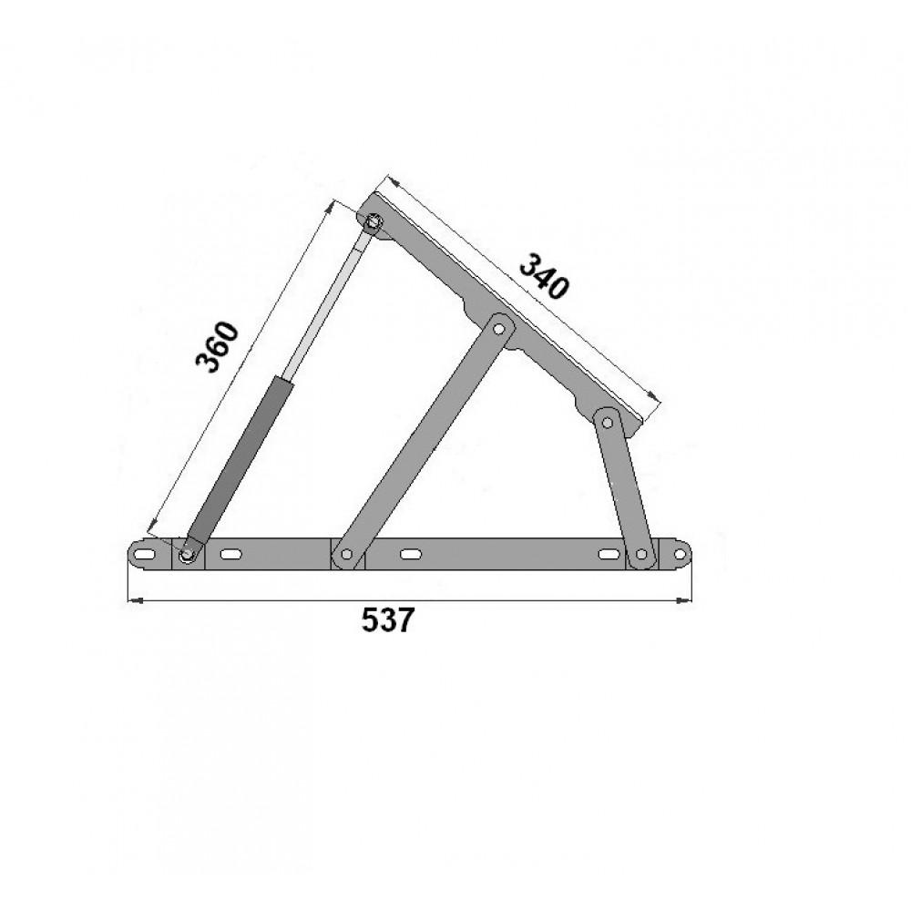 Амортизатор к подъемному механизму для диванов 1350 N