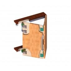 Система складных дверей 05 МКК 2 МЕРА (на две чашки)