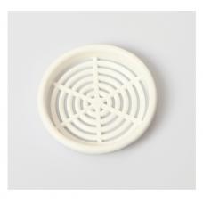 Решітка вентиляційна меблева 0610 d=60 мм, біла
