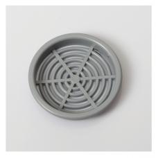 Решітка вентиляційна меблева 0610 d=60 мм, сіра