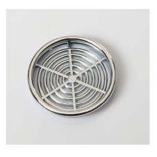 Решітка вентиляційна меблева 0610 d=60 мм, хром