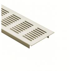 Решітка вентиляційна меблева 500 х 70 х 17 мм, нікель