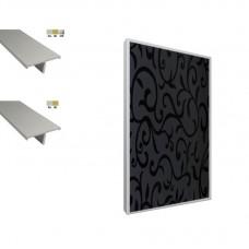Мебельные фасады в  Т-образном алюмин. профиле: МДФ 16-19мм, HPL пластик мкв. от