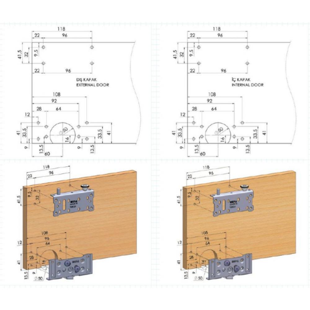 Розсувна система SKM 80 AY для шафи купе