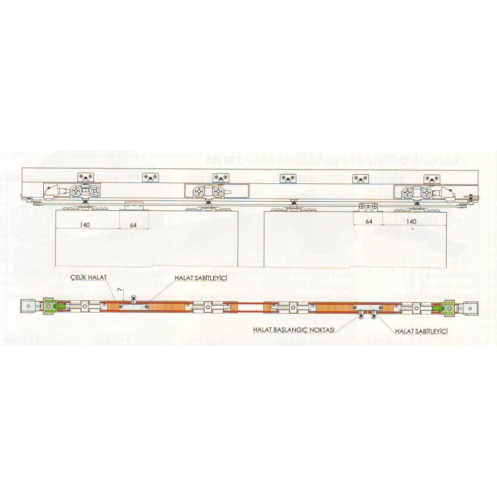 Розсувна система HSK 80 для міжкімнатних дверей