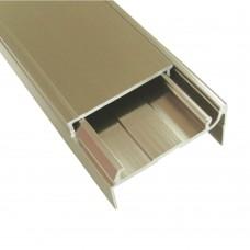 Відбортовка для стільниці 252 L - 4200 мм, 38 мм, алюміній, м
