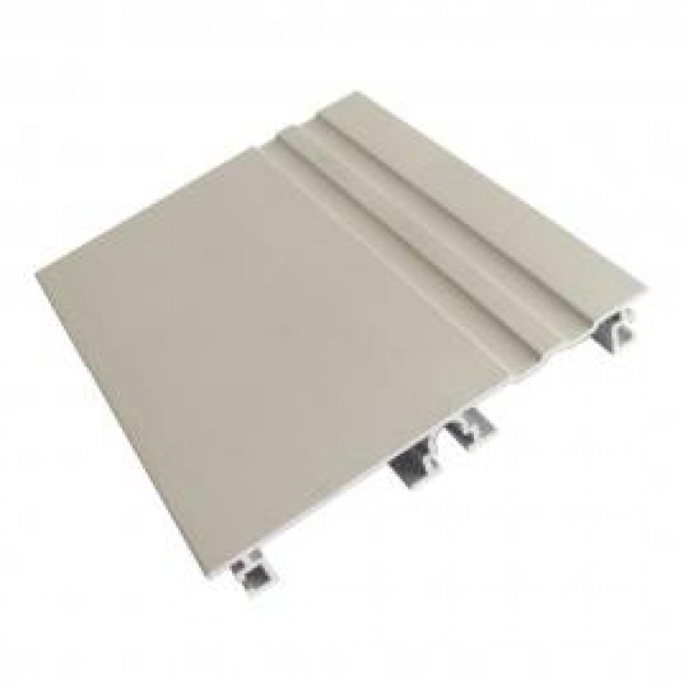 Цоколь алюминиевый, код 656, 100 мм, L - 3000 мм, никель