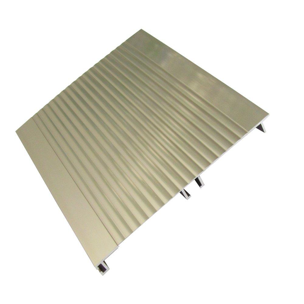 Цоколь алюминиевый, рифленый 100 мм, L - 3000 мм
