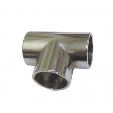 Соединитель 3-ой для трубы d - 25 мм, хром