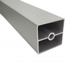 Труба квадратная гладкая 40 х 40 мм, L - 3000 мм, алюминий, шт