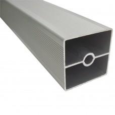 Труба квадратная рифленая 1 мм 40 х 40 мм, L - 3000 мм, алюминий, шт