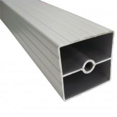Труба квадратная рифленая 3 мм 40 х 40 мм, L - 3000 мм, алюминий, шт