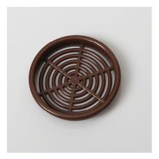 Решітка вентиляційна меблева 0610 d=60 мм, коричнева
