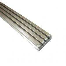 Решітка вентиляційна меблева 610 х 60 х 10 мм, нікель