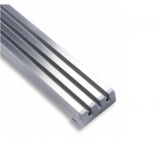 Решітка вентиляційна меблева 610 х 60 х 10 мм, алюміній