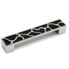 Ручка мебельная HS 1006 - 128 мм, хром / черный