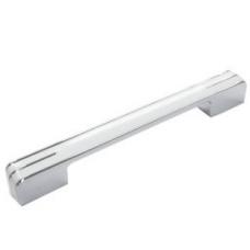 Ручка меблева HS 750 - 160 мм, хром / білий
